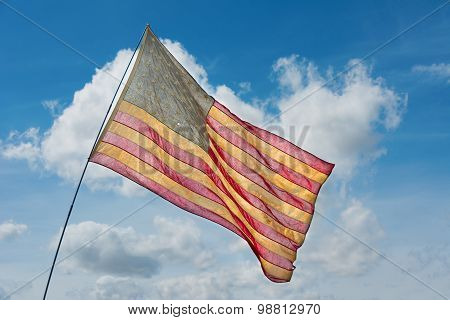 Old Faded American Flag