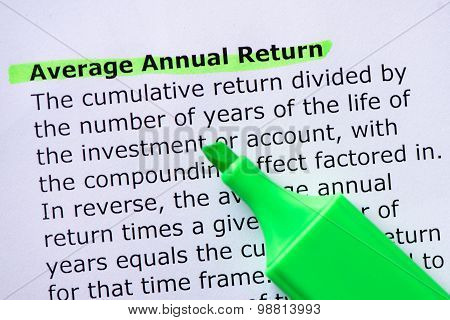 Average Annual Return