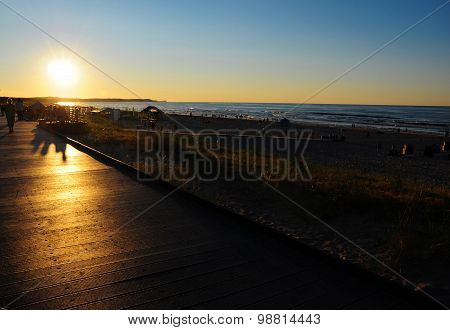 Beach and sea before sunset