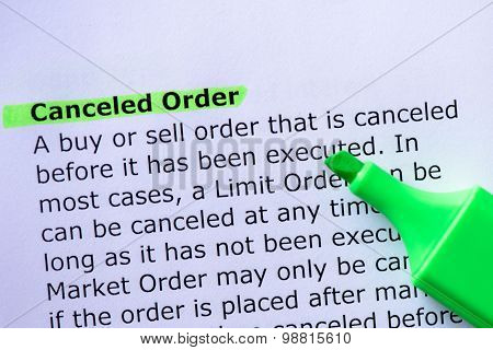 Canceled Order