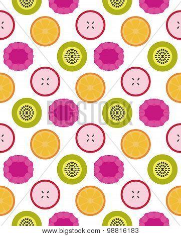 Vector fruits seamless pattern
