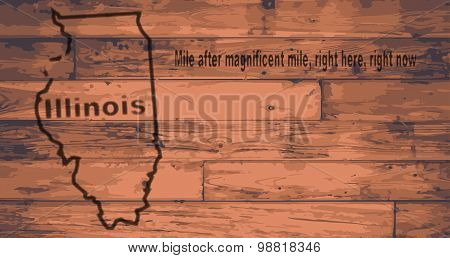 Illinois Map Brand