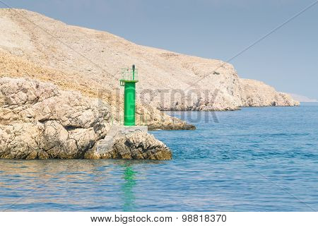 Lighthouse That Signals The Presence Of Rocks At Ships.