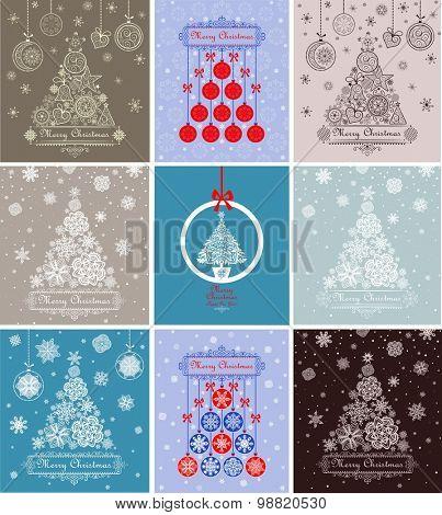 Xmas greeting decorative cards