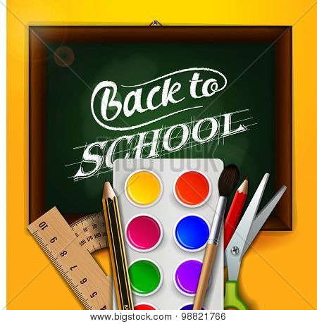 Back to school, sale, vector illustration.
