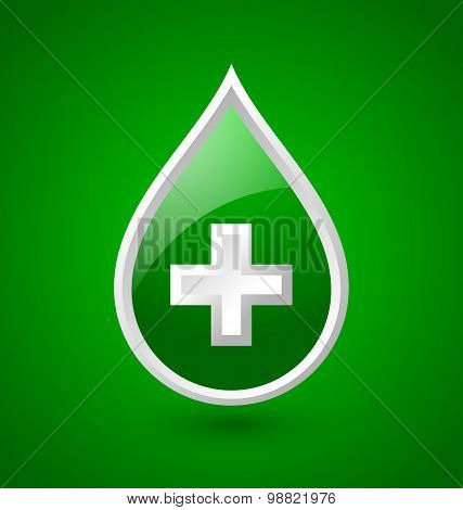 Green Blood Medical Icon