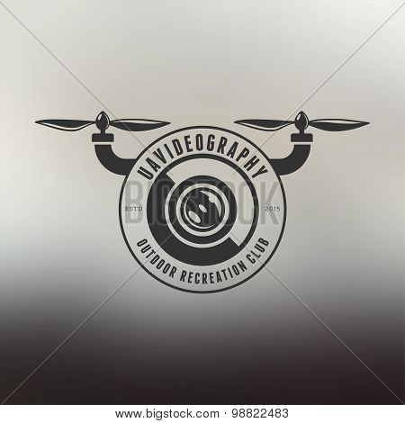 Drone vintage style label