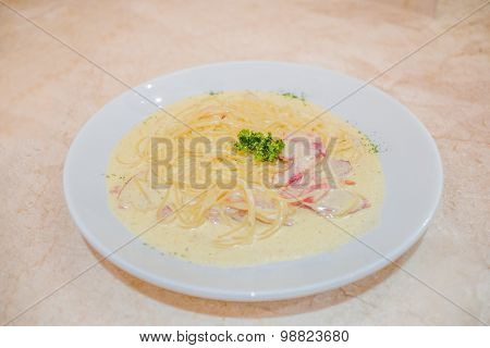 Spaghetti Carbonara Cream Sauce