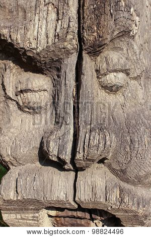 old wooden statue