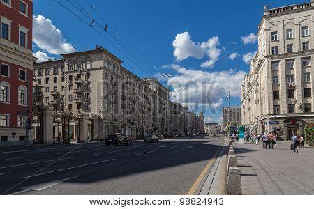 Tverskaya Street In Moscow, Russia
