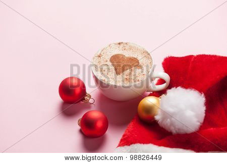 Cup Of Coffee And Christmas Toys