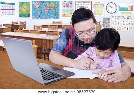Teacher Teach His Student To Write