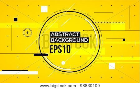 Abstract yellow line background.