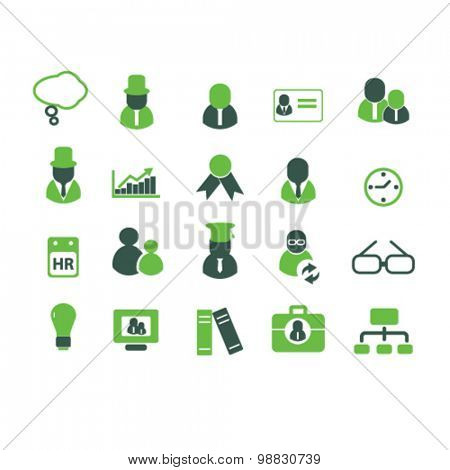 human resources, management, community icons, signs, illustrations