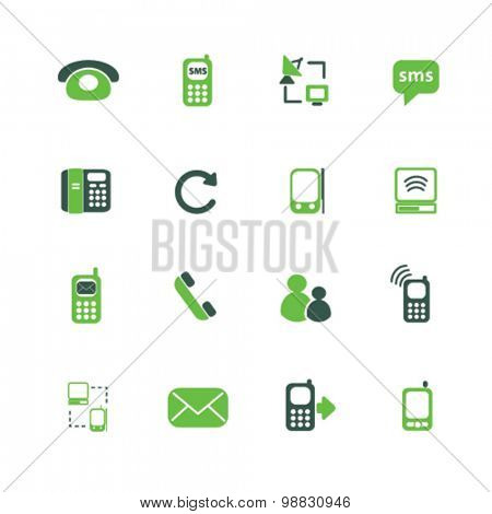 communication, mobile icons, signs, illustrations