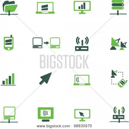 communication, connection icons, signs, illustrations