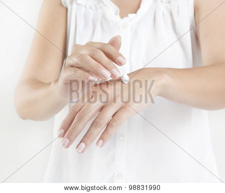 Hands With Cream