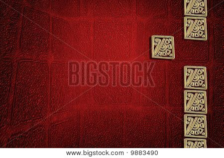 Red Background With Mexican Motifs