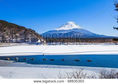 Lake Shoji, Mount Fuji, Japan.
