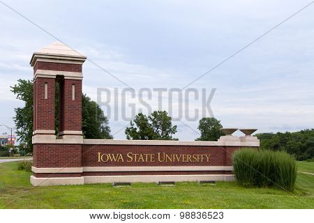 Entrance To Iowa State University