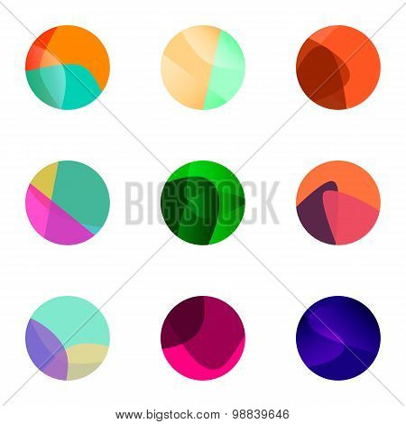 Colorful Ball Vector Logo Set