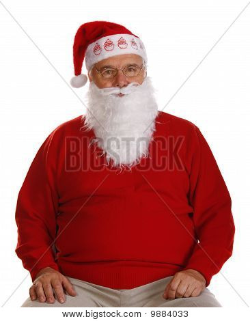Grandfather As A Santa Claus