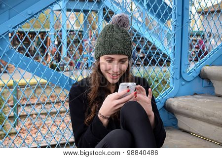 Young Woman Using Her Cellphone