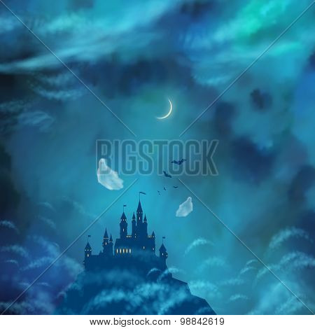 Halloween Vector Nightly Background