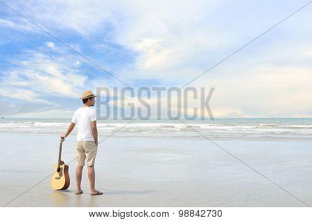 Man on the beach