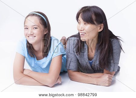 Mother Looks At Daughter.