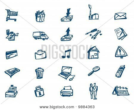 Icons Scribble Webshop