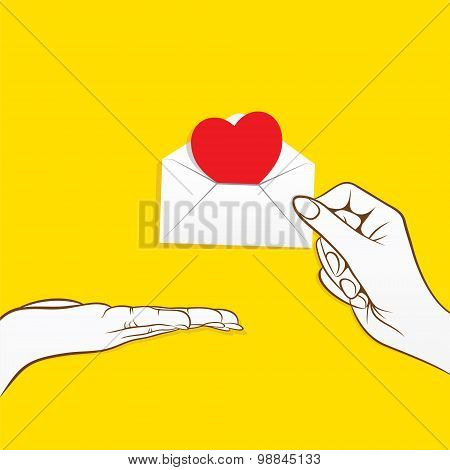 message for love concept design