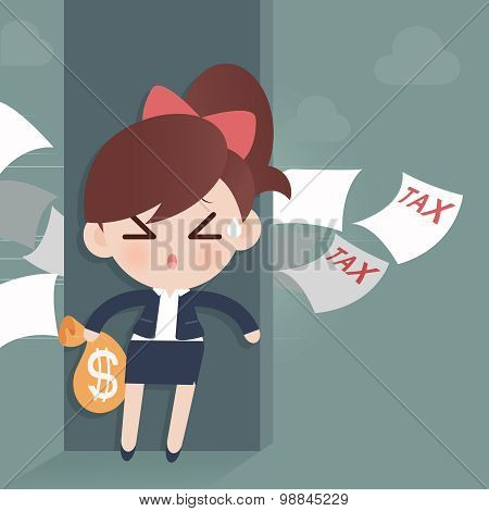 Business Woman Avoid From Tax
