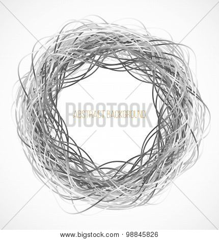 Absract gray circle background with lines