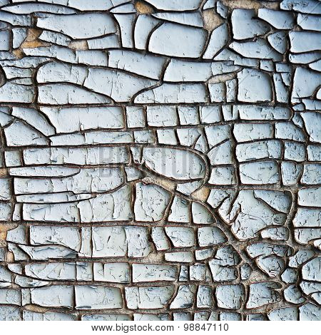 old dyed wall with cracks abstract background