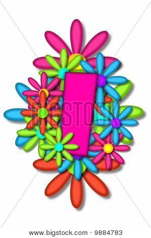 Alphabet Flower Cushion I