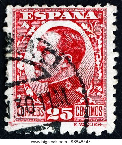 Postage Stamp Spain 1930 Alfonso Xiii, King Of Spain