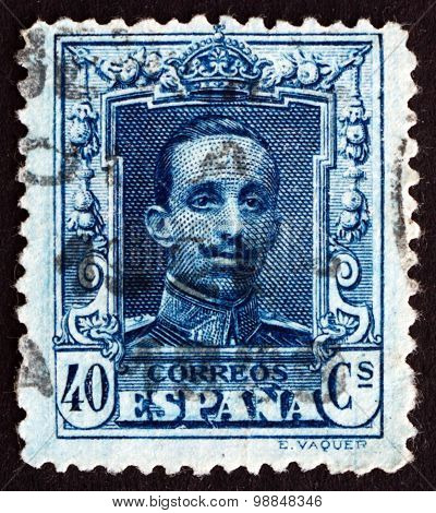 Postage Stamp Spain 1922 Alfonso Xiii, King Of Spain