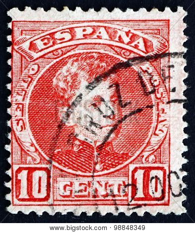Postage Stamp Spain 1900 Alfonso Xiii, King Of Spain