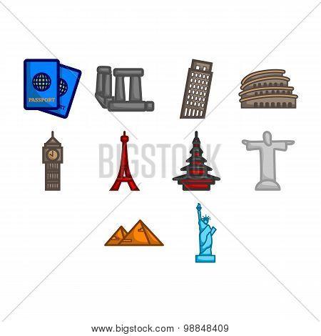 World Travel Icon Set