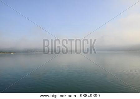 Landscape Aiguebelette Lake, France