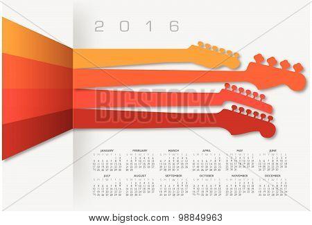 2016 Creative Guitar Calendar