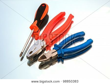 Tools, Wire Cutters, Pliers, Screwdriver,