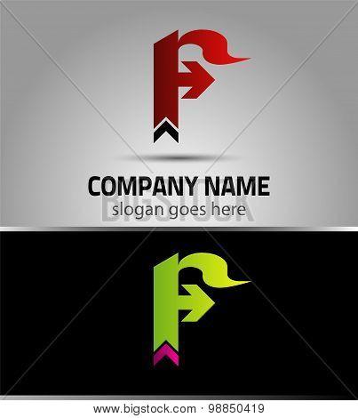 Letter F logo vector alphabet shape. F concept type as logo