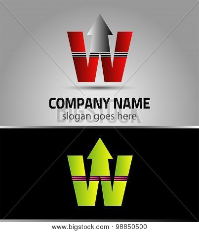 Letter W logo vector alphabet shape. W concept type as logo
