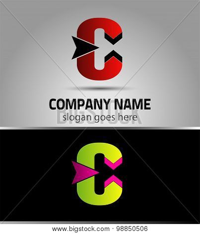 Letter C logo vector alphabet shape. C concept type as logo