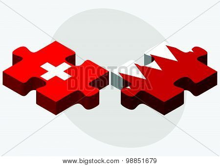 Switzerland And Bahrain Flags