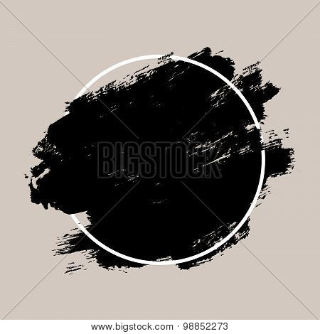 Abstract Textured Ink Brush Background