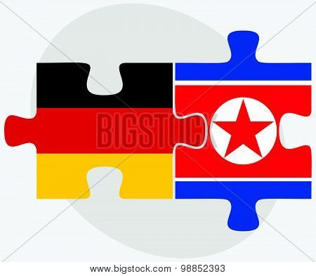 Germany And Korea-north Flags