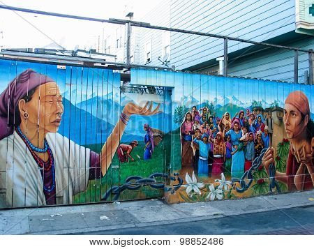 Balmy Alley Murals In San Francisco